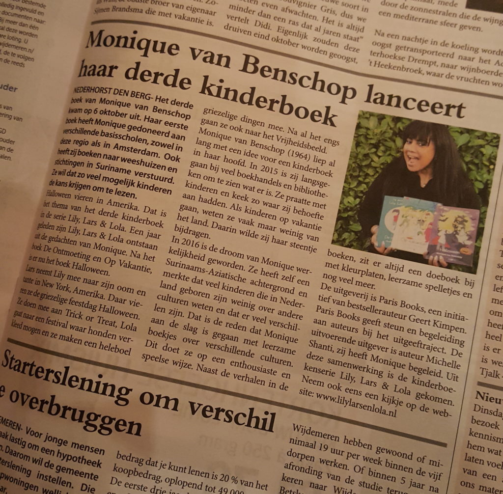 Monique in Weekblad Wijdemeren