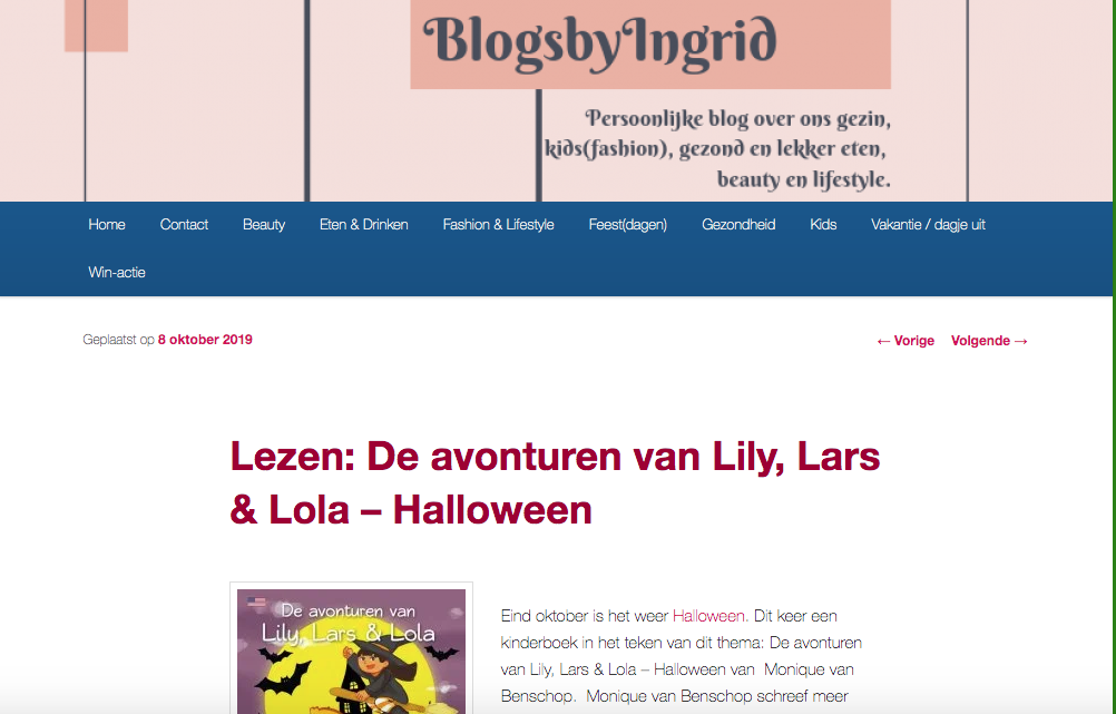 Review Lily, Lars en Lola – Halloween